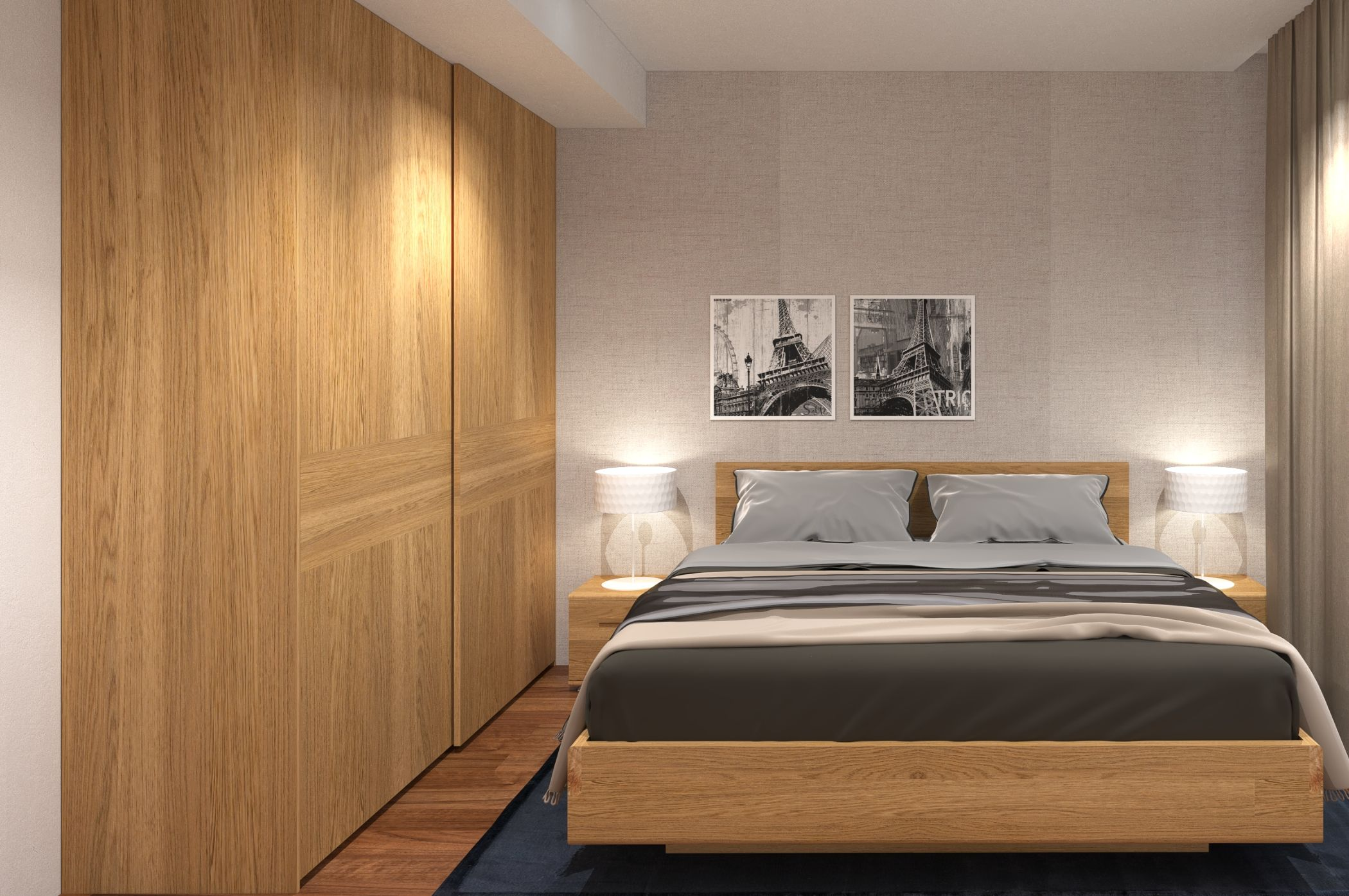 Phong cách nội thất đặc biệt với tủ gỗ âm tường