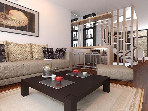 Không gian sống trong lành mát mẻ với nội thất gỗ tự nhiên