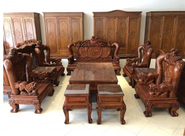 Thiết kế nội thất từ gỗ hương