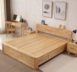 Giường ngủ gỗ tự nhiên siêu bền